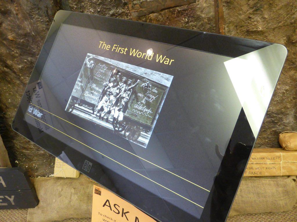 WW1 touchscreen
